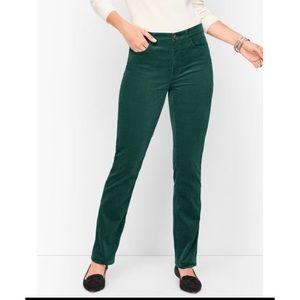 Talbots Signature Velveteen Velvet Pants Green